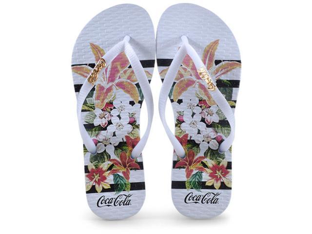 Chinelo Feminino Coca-cola Shoes Cc2581 Branco