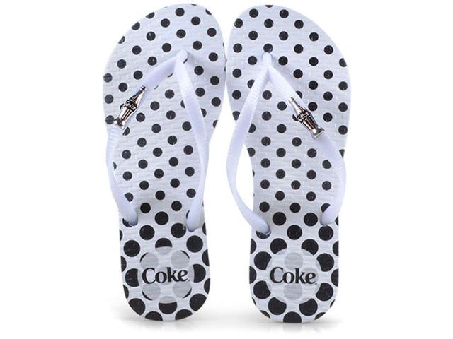 Chinelo Feminino Coca-cola Shoes Cc2582 Branco