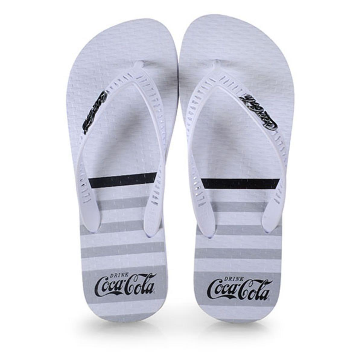 Chinelo Masculino Coca-cola Shoes Cc2769 Branco