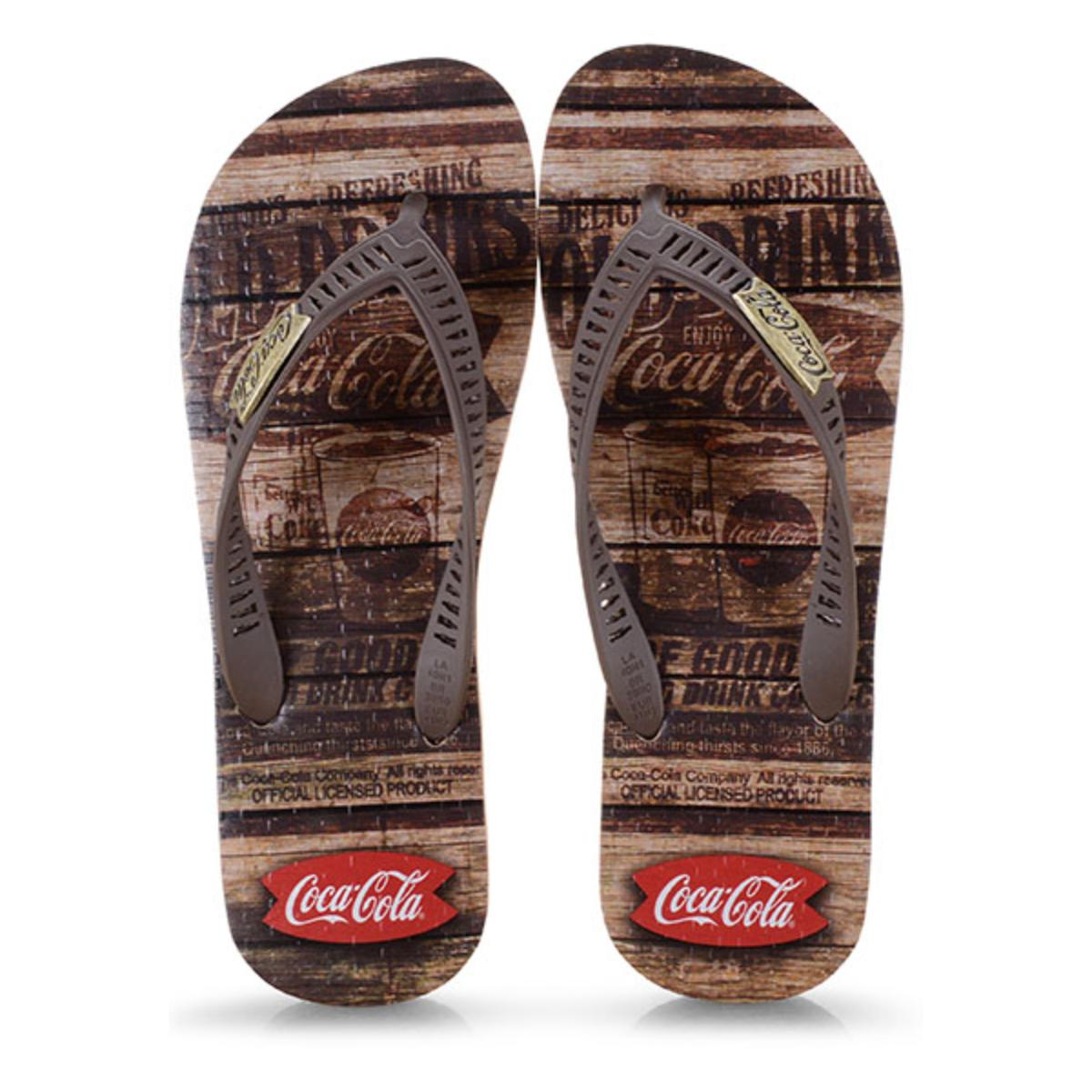 Chinelo Masculino Coca-cola Shoes Cc2680 Bege/marrom