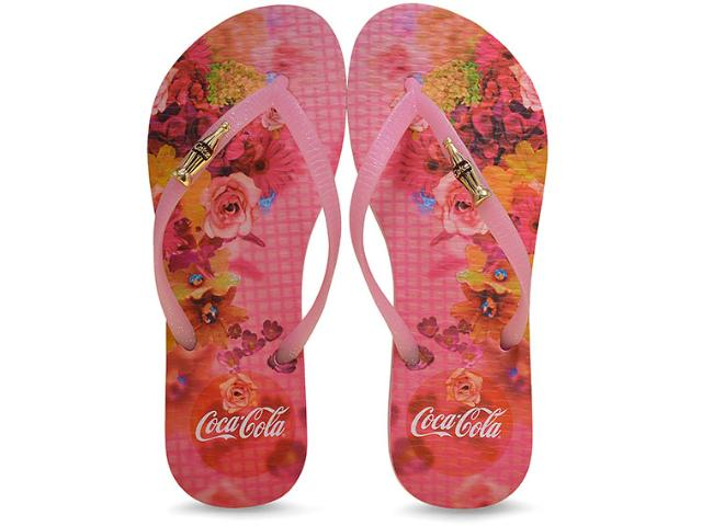 Chinelo Feminino Coca-cola Shoes Cc2187 Rosa