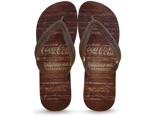 Chinelo Masculino Coca-cola Shoes Ccl2180 Preto/marrom