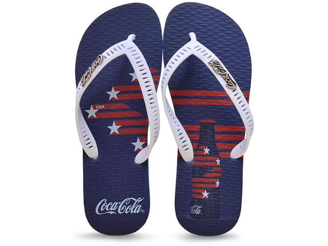 Chinelo Masculino Coca-cola Shoes Cc2217 Azul/branco