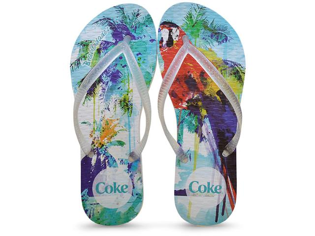 Chinelo Feminino Coca-cola Shoes Ccl2185 Branco/cristal