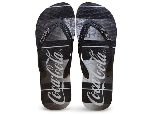 Chinelo Masculino Coca-cola Shoes Cc2183 Preto