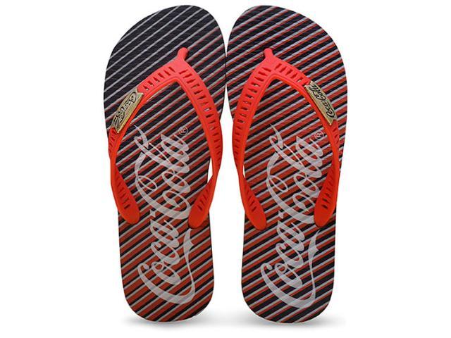 Chinelo Masculino Coca-cola Shoes Cc2238 Preto/vermelho