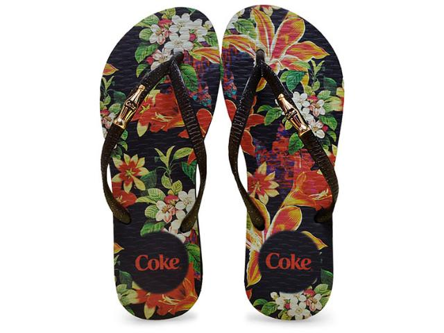 Chinelo Feminino Coca-cola Shoes Cc2250 Preto