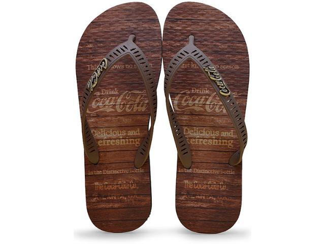 Chinelo Masculino Coca-cola Shoes Cc2180 Preto/marrom