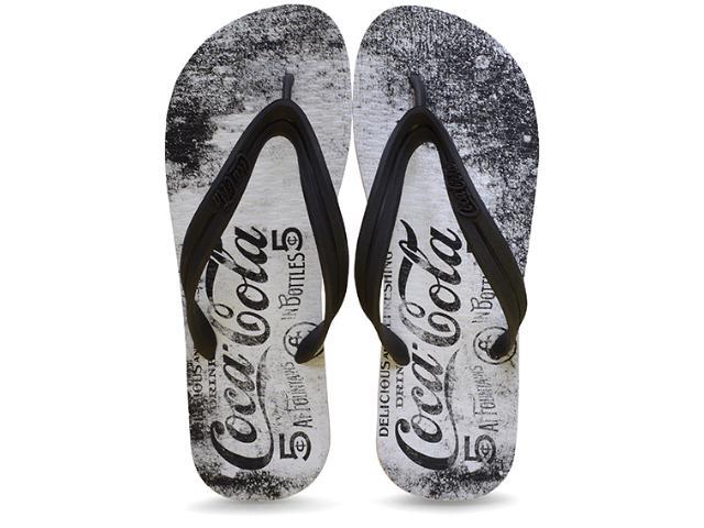 Chinelo Masculino Coca-cola Shoes Ccl2099 Branco/preto