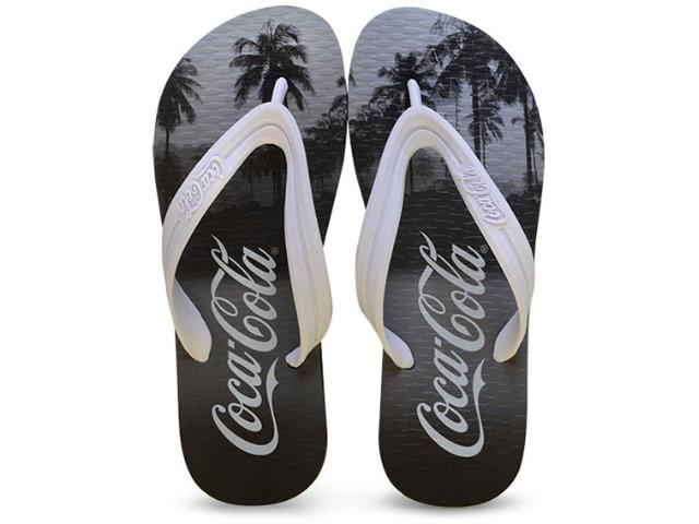 Chinelo Masculino Coca-cola Shoes Ccl2049 Preto/branco