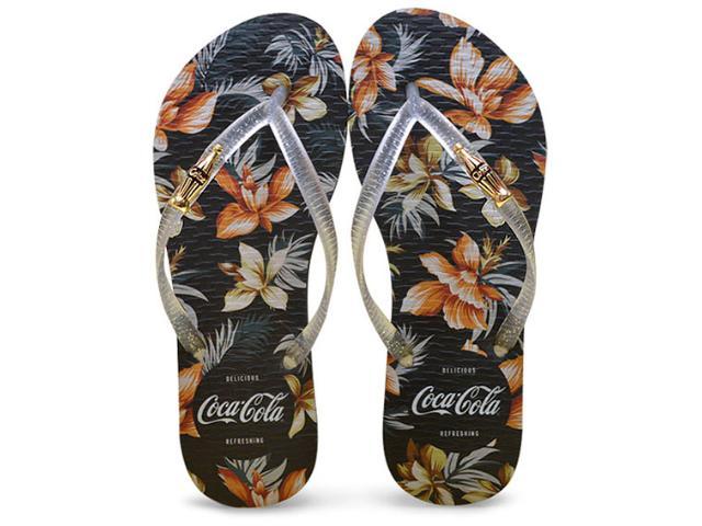 Chinelo Feminino Coca-cola Shoes Cc2269 Preto/cristal