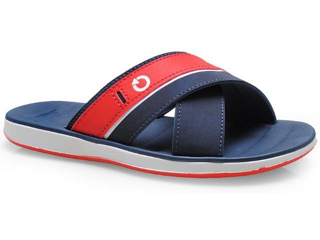 Chinelo Masculino Grendene 10955 Cartago Malaga Branco/azul/vermelho