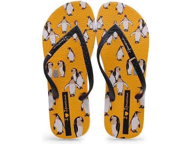 Chinelo Feminino Grendene 25791 Ipanema Dreams Amarelo/preto