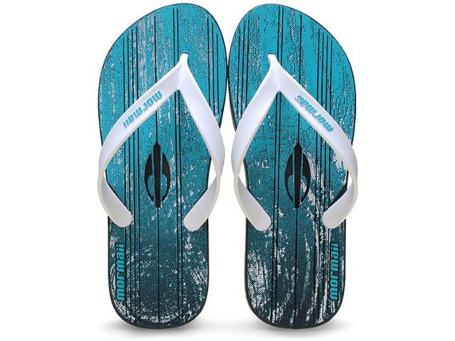 Chinelo Masculino Grendene 10591 Mormai Tropical Azul/branco