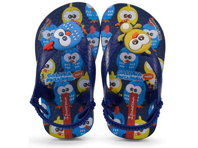 f95578e0f Chinelo Masc Infantil Grendene 26102 Ipanema Galinha Pintadinha Azul