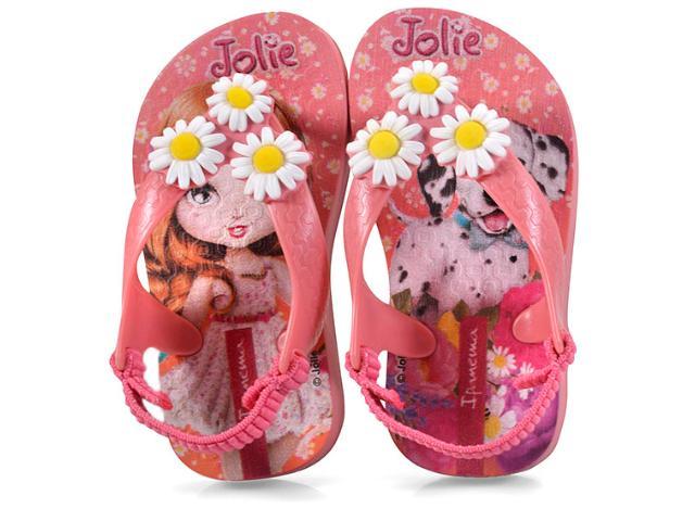 Chinelo Fem Infantil Grendene 26215 Ipanema Jolie Babys  Rosa