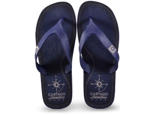 Chinelo Masculino Grendene 10738 22788 Cartago Dakar Azul/cinza
