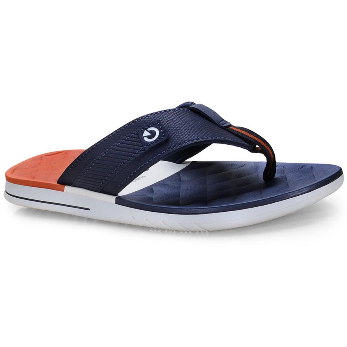 Chinelo Masculino Grendene 11333 24799 Cartago Sevilha iv Branco/azul/vermelho