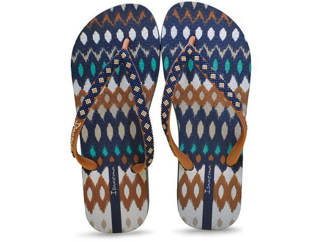Chinelo Feminino Grendene 25720 Ipanema Fashion Azul/marrom