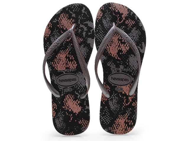 Chinelo Feminino Havaianas Slim Animals Fog