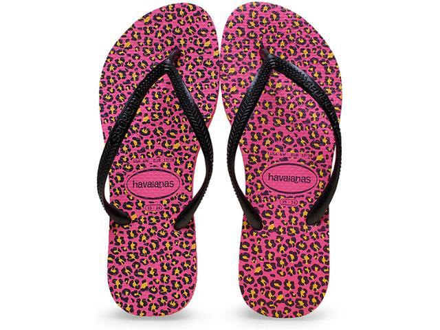 Chinelo Feminino Havaianas Slim Animals Maravilha Pink