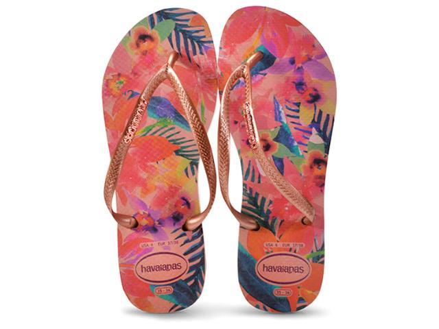 Chinelo Feminino Havaianas Slim Tropical Rosa Ballet