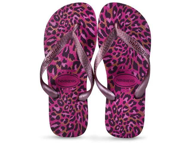 Chinelo Feminino Havaianas Top Animals Rosa Hollywood