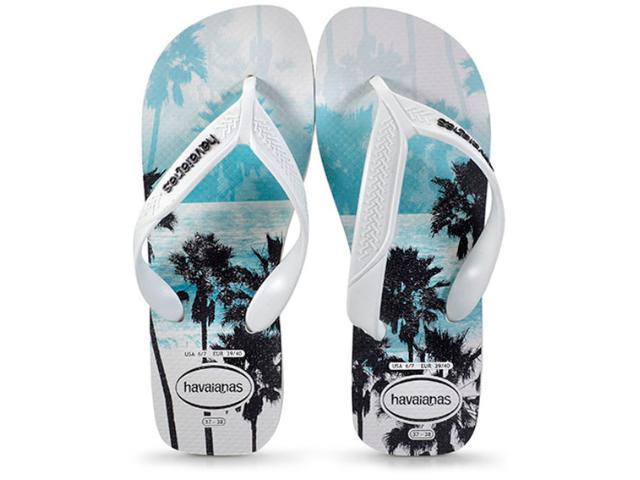 Chinelo Masculino Havaianas Surf Branco/preto