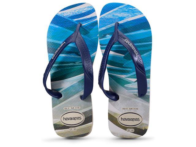 Chinelo Masculino Havaianas Surf Bege Palha/marinho