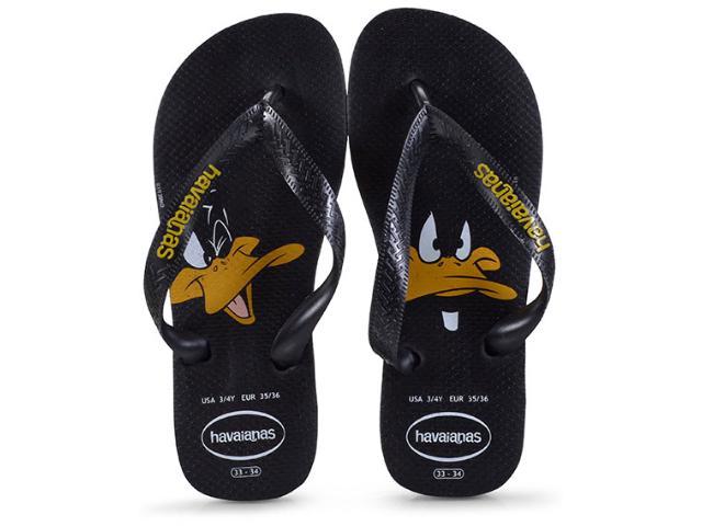 Chinelo Masculino Havaianas Looney Tunes Preto