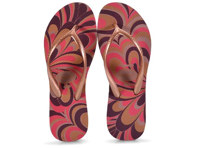 Tamanco Feminino Havaianas High Light ii Rosa Crocus