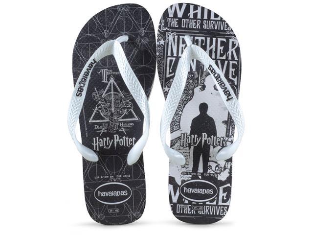 Chinelo Masculino Havaianas Harry Potter Branco