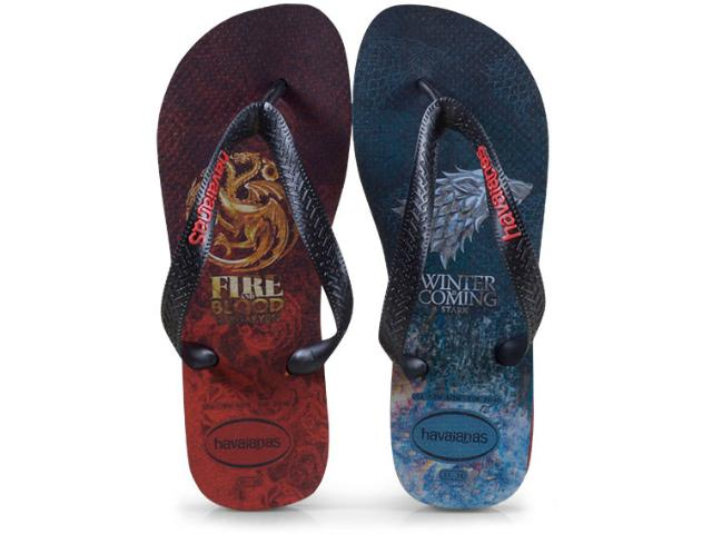 Chinelo Masculino Havaianas Game of Thrones Preto