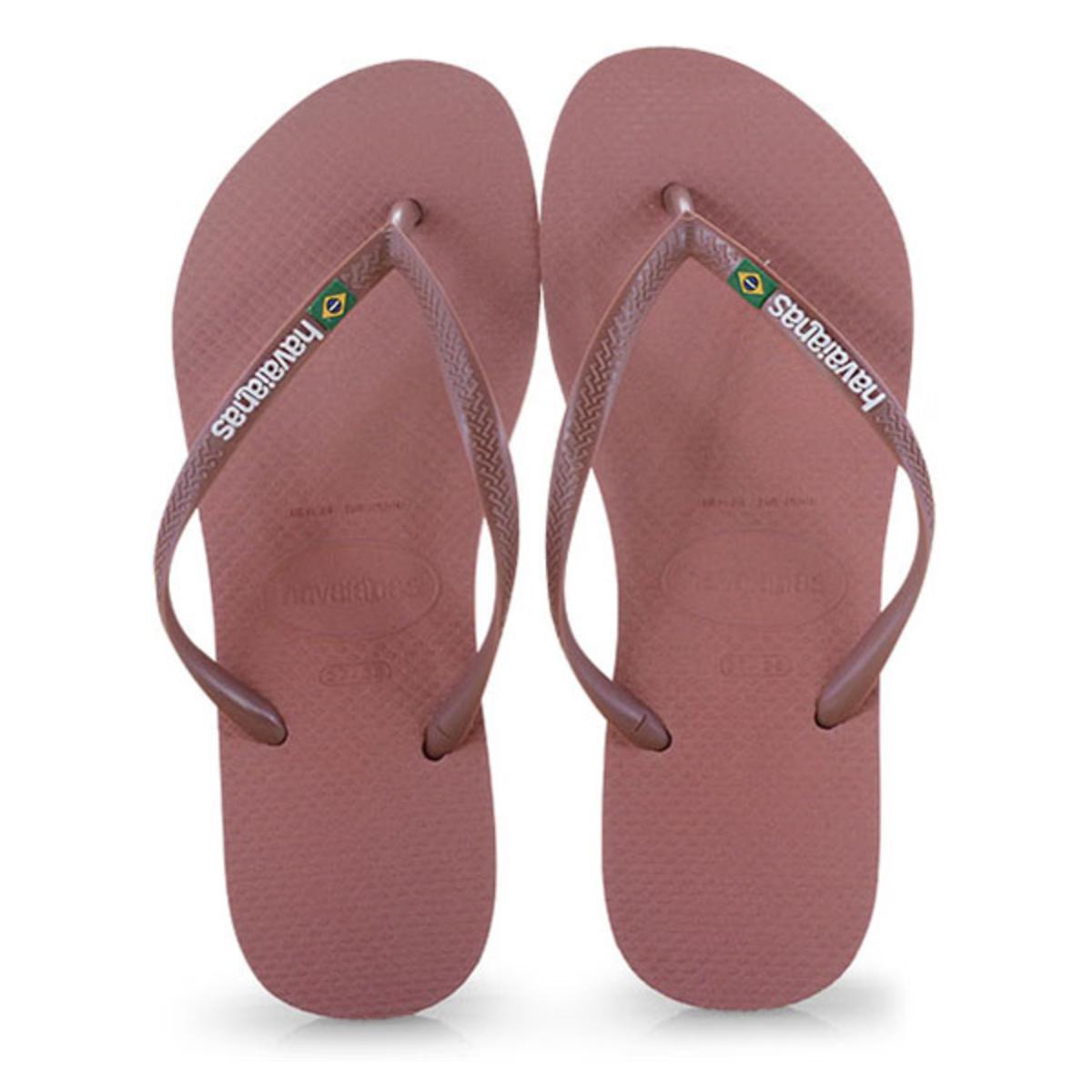Chinelo Feminino Havaianas Slim Brasil Nude/rosa