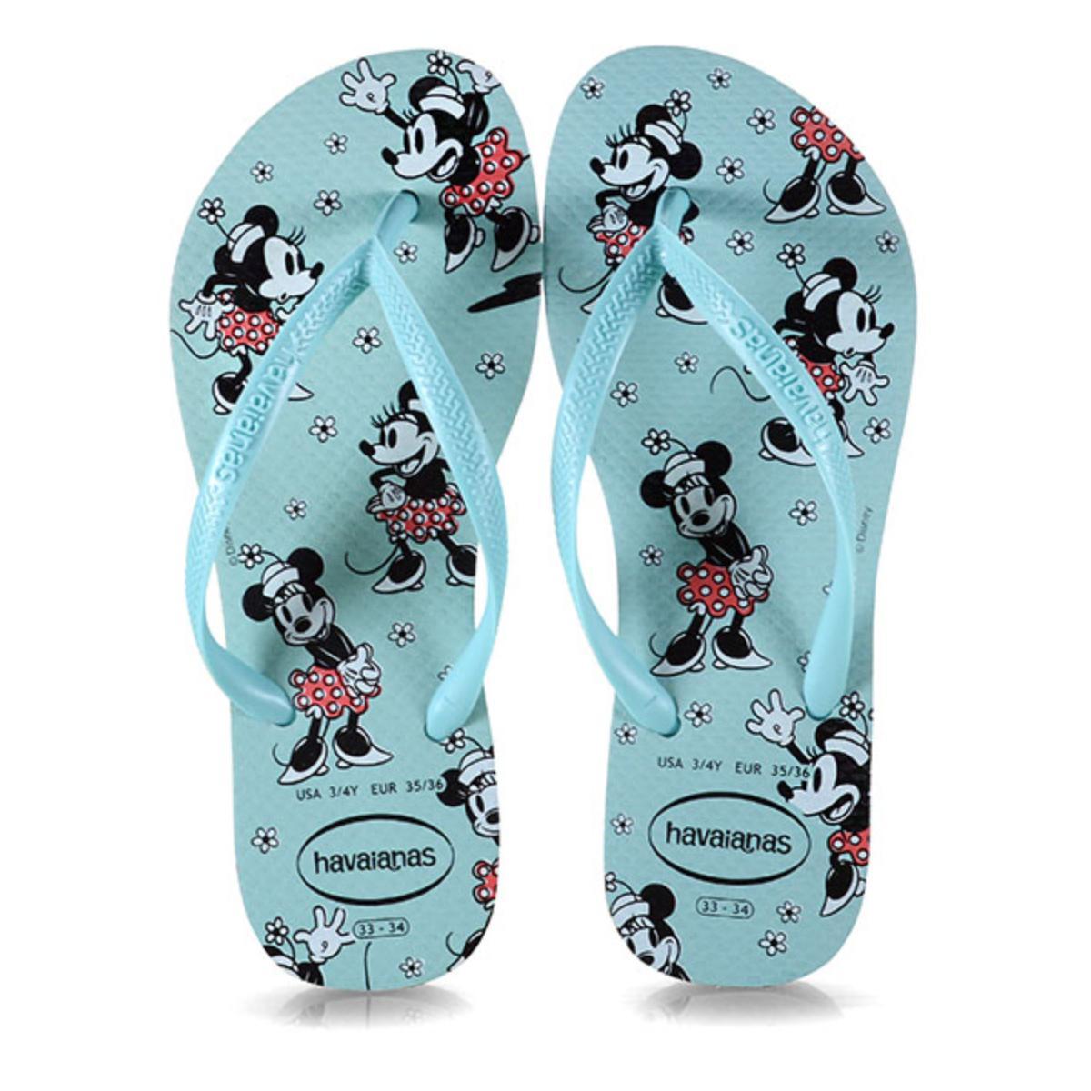 Chinelo Feminino Havaianas Slim Disney cf Ice Blue