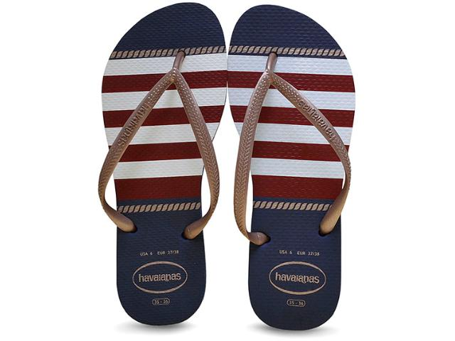 Chinelo Feminino Havaianas Slim Nautical Marinho