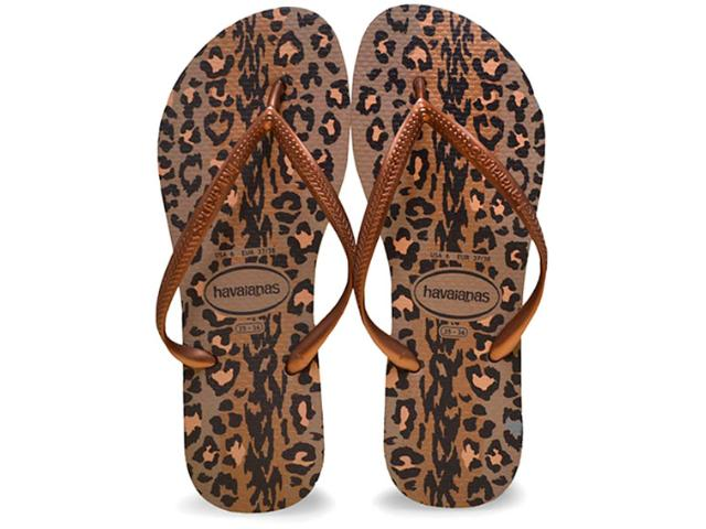 Chinelo Feminino Havaianas Slim Animals Rose/cobre