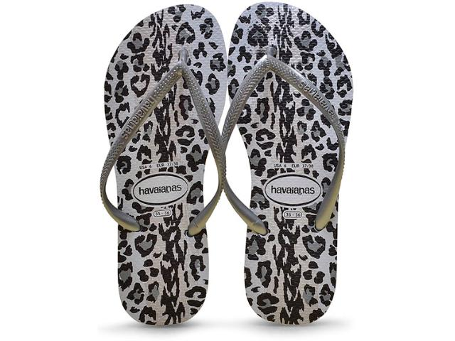 Chinelo Feminino Havaianas Slim Animals Cinza/grafite