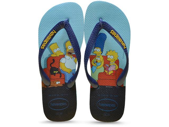 Chinelo Masculino Havaianas Simpsons Azul