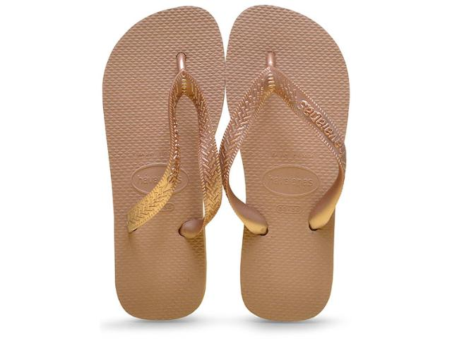 Chinelo Feminino Havaianas Top Tiras cf Rose Gold