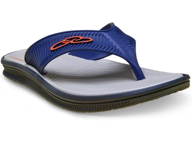 Chinelo Masculino Olympikus 50116 Proof Azul/cinza