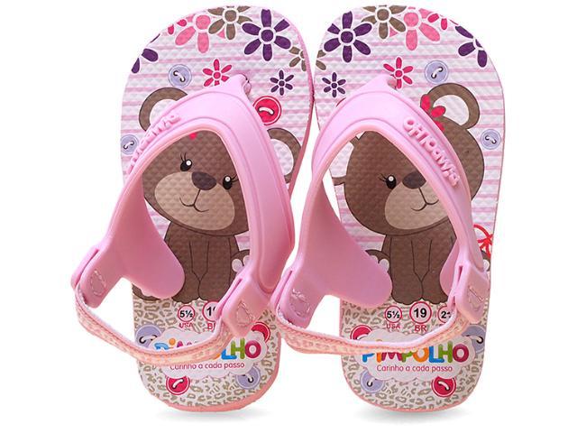 Chinelo Fem Infantil Pimpolho 72966 Ursinha Rosa Bebê