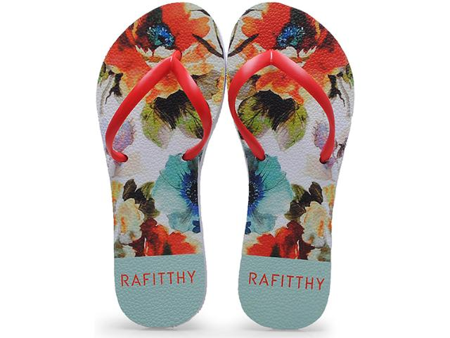 Chinelo Feminino Rafitthy 222.51703 Paint Flowers Color