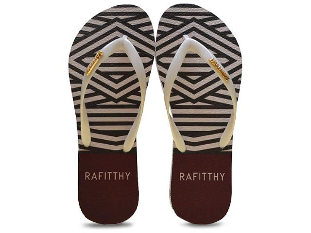 Chinelo Feminino Rafitthy 222.61701 Fashion Listras  Branco