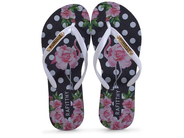 Chinelo Feminino Rafitthy 222.91702 Flamingo Roses Branco