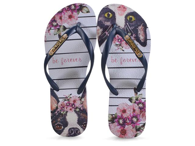 Chinelo Feminino Rafitthy 110.91702 be Forever Friends Romantic