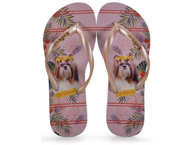 Chinelo Feminino Rafitthy 110.91701 be Forever Shitzu Jungle