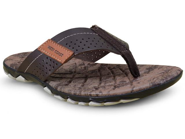 Chinelo Masculino West Coast 182301/3 Café
