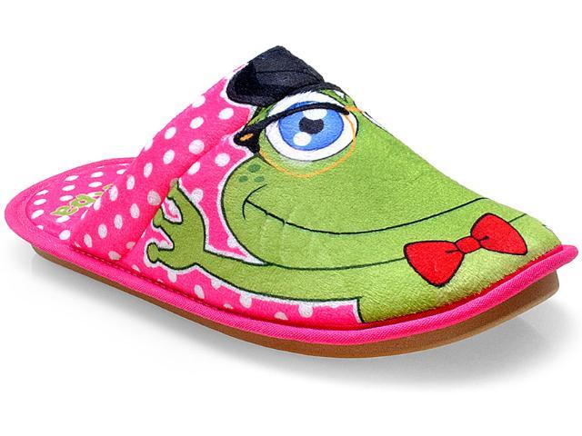 Chinelo Feminino Ferpa 3323 Casal Sapos Pink/verde