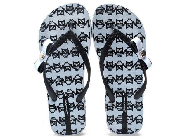 Chinelo Feminino Grendene 25616 Ipanema Fashion Print Branco/preto